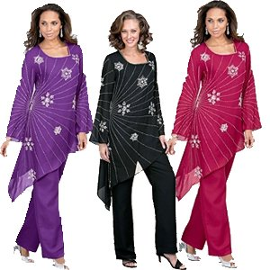 Plus Size Formal Pant Suits and Plus Size Cocktail Pants Suits