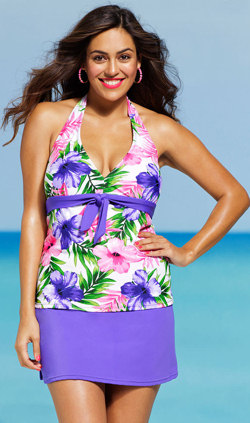 Plus Size Halter Skirtini