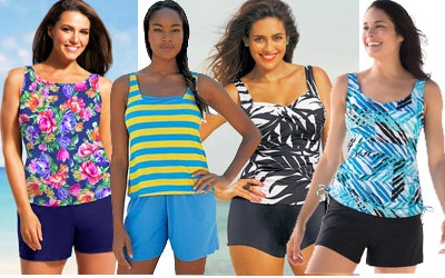 Plus Size Jogger Swimsuits & Shortinis