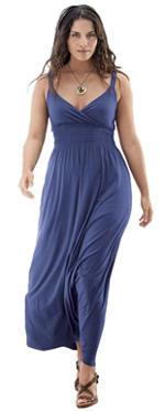 plus size empire waist maxi dress