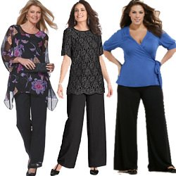 Plus Size Palazzo and Special Occasion Pants