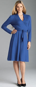 Plus Size Long Sleeve Wrap Dress