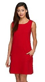 Red Plus Size Tank Dress